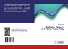 Buchcover von Qualitative Research Methods for Public Policy
