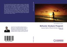 Bookcover of Behavior Analysis Program