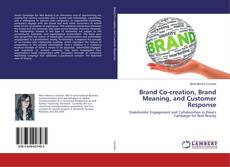 Buchcover von Brand Co-creation, Brand Meaning, and Customer Response