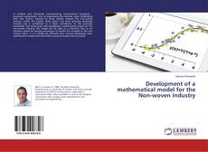 Couverture de Development of a mathematical model for the Non-woven Industry
