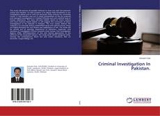 Portada del libro de Criminal Investigation In Pakistan.