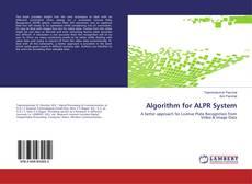 Bookcover of Algorithm for ALPR System