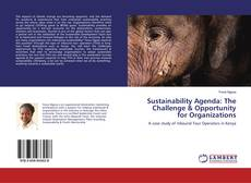Bookcover of Sustainability Agenda: The Challenge & Opportunity for Organizations