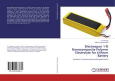 Buchcover von Electrospun 1-D Nanocomposite Polymer Electrolyte for Lithium Battery