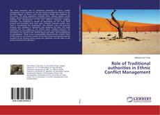 Bookcover of Role of Traditional authorities in Ethnic Conflict Management