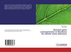 Bookcover of Osmotin gene overexpression in Nicotiana for abiotic stress tolerance