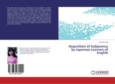 Acquisition of Subjacency by Japanese Learners of English kitap kapağı