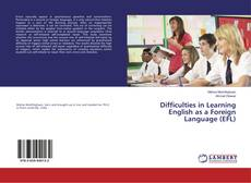Capa do livro de Difficulties in Learning English as a Foreign Language (EFL)