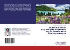 Bookcover of Водный баланс водосборов в буковых лесах Сочинского Причерноморья