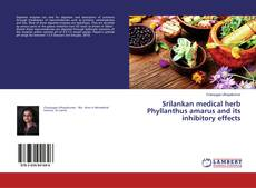 Capa do livro de Srilankan medical herb Phyllanthus amarus and its inhibitory effects