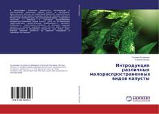 Обложка Интродукция различных малораспространенных видов капусты