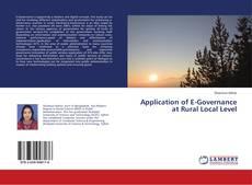 Couverture de Application of E-Governance at Rural Local Level