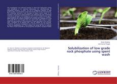 Bookcover of Solubilization of low grade rock phosphate using spent wash