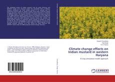 Buchcover von Climate change effects on Indian mustard in western Haryana