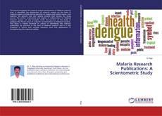 Portada del libro de Malaria Research Publications: A Scientometric Study