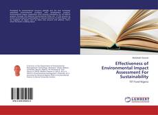 Portada del libro de Effectiveness of Environmental Impact Assessment For Sustainability