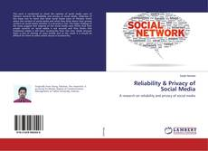 Buchcover von Reliability & Privacy of Social Media
