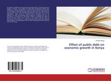 Bookcover of Effect of public debt on economic growth in Kenya