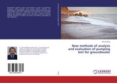 Portada del libro de New methods of analysis and evaluation of pumping test for groundwater