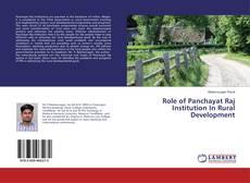Обложка Role of Panchayat Raj Institution In Rural Development