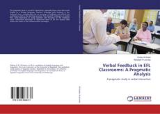 Bookcover of Verbal Feedback in EFL Classrooms: A Pragmatic Analysis