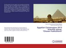 "Capa do livro de Egyptian Conservators 2013 Scientific group ""Chosen Publications"""