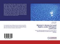 Bookcover of Women's Access to Land Rights under Ethiopian Land Law