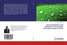 Portada del libro de Documentation and Analysis of 'Sera Gada' among Karrayyu Oromo