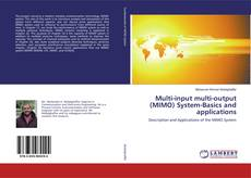 Bookcover of Multi-input multi-output (MIMO) System-Basics and applications