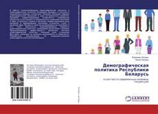 Bookcover of Демографическая политика Республики Беларусь