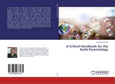 Couverture de A Critical Handbook for the Karbi Paremiology