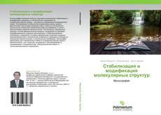 Capa do livro de Стабилизация и модификация молекулярных структур