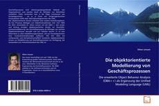 Bookcover of Die objektorientierte Modellierung von Geschäftsprozessen