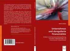 Buchcover von Unternehmen und deregulierte Finanzmärkte