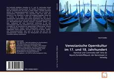 Capa do livro de Venezianische Opernkultur im 17. und 18. Jahrhundert