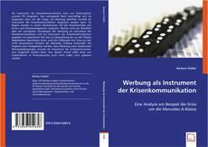 Bookcover of Werbung als Instrument der Krisenkommunikation