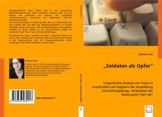 """Buchcover von """"Soldaten als Opfer"""""""
