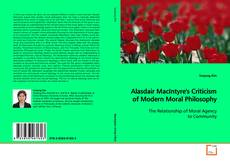 Bookcover of Alasdair MacIntyre's Criticism of Modern Moral Philosophy