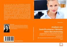 Buchcover von Analyse von beeinflussbaren Faktoren beim Berufseinstieg