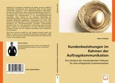 Capa do livro de Kundenbeziehungen im Rahmen der Auftragskommunikation
