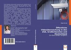 Portada del libro de Öffentliche Videoüberwachung in den USA, Großbritannien und Deutschland