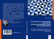 Buchcover von Ein Konzept zur nachhaltigen Stärkung der Wettbewerbsfähigkeit kleiner und neu gegründeter Unternehmen