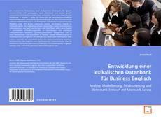 Buchcover von Entwicklung einer lexikalischen Datenbank für Business Englisch