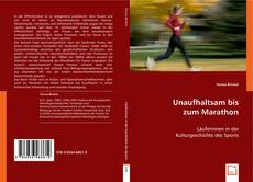 Unaufhaltsam bis zum Marathon kitap kapağı