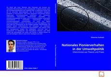 Buchcover von Nationales Pionierverhalten in der Umweltpolitik