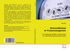 Capa do livro de Wirtschaftlichkeit im Prozessmanagement
