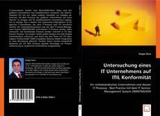 Buchcover von Untersuchung eines IT Unternehmens auf ITIL Konformität