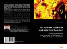 Bookcover of Zur Synthese künstlicher und natürlicher Sprachen