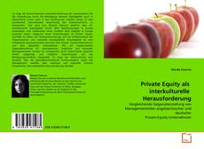 Bookcover of Private Equity als  interkulturelle  Herausforderung