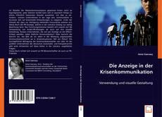 Capa do livro de Die Anzeige in der Krisenkommunikation